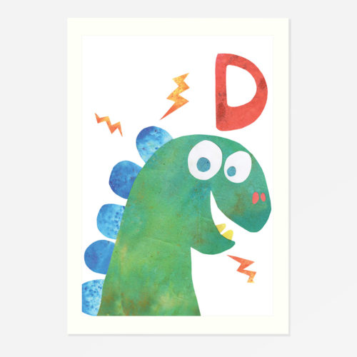 Dino 'D' print