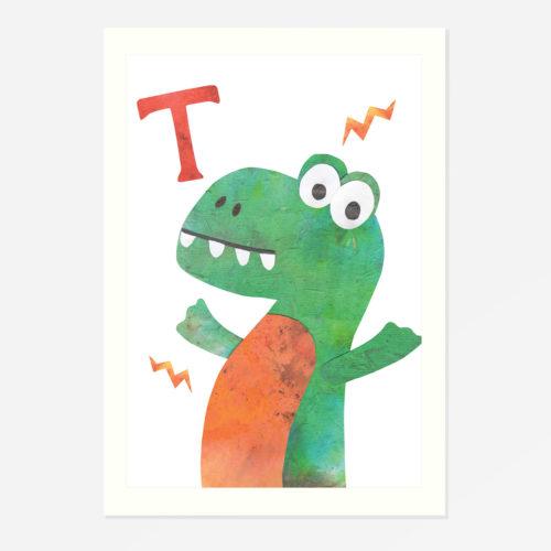 'T' Rex print