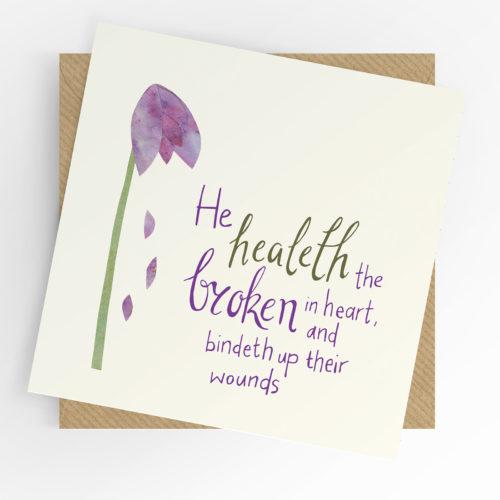 Broken in heart